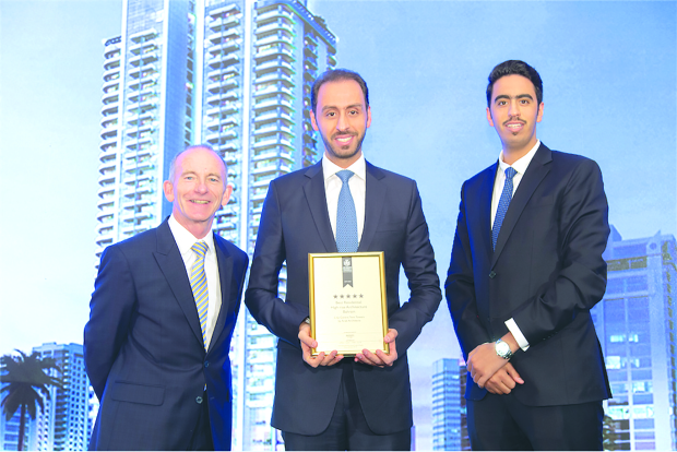 <p>Bahrain-based Arab Architects has won a five-star award for the City Centre Twin Towers development at the International Arabian Property Awards. The firm competed against the best property professionals across Dubai, Africa and Arab region to be recognised in the Best Residential High Rise Architecture category. The towers are 43 storeys tall, featuring one of the tallest masts in the kingdom, at 55 metres. Arab Architects' founder and managing director Mazen Mohamed Araiqat received the award during a ceremony at Marriott Grosvenor Square in London.</p>