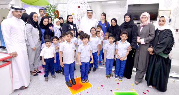 <p>Labour and Social Development Minister Jameel Humaidan yesterday visited the Aisha Early Intervention Centre in Galali and was briefed about its services. The facility has the capacity to support 120 people suffering from mental and physical disability, autism and Down syndrome so as to be integrated into public schools and other educational establishments. Centre president Aisha Al Hamer and other officials, teachers and administrative staff were present.</p>