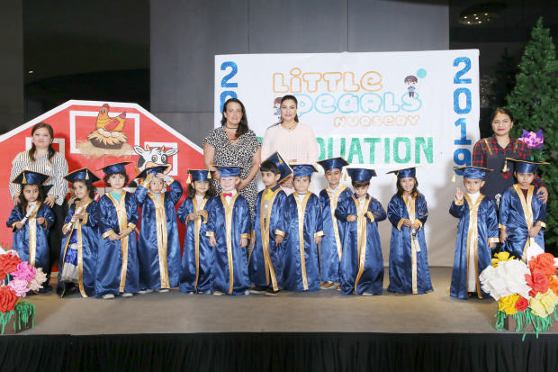 <p>Little Pearls Nursery celebrated its third annual day and graduation ceremony at The Grove – Amwaj Islands. Students from more than 30 nationalities and their teachers showcased performances as part of the event, where pupils also received certificates from Bahraini community personality Amira Ismail. The pre-school located in Hidd is an initiative of Global Educational Solutions with branches in the UK, the UAE, Bahrain, Malaysia and India. Above, the young graduates.</p>