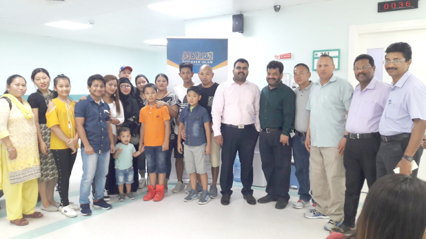 <div><i>Participants at the camp.</i></div>