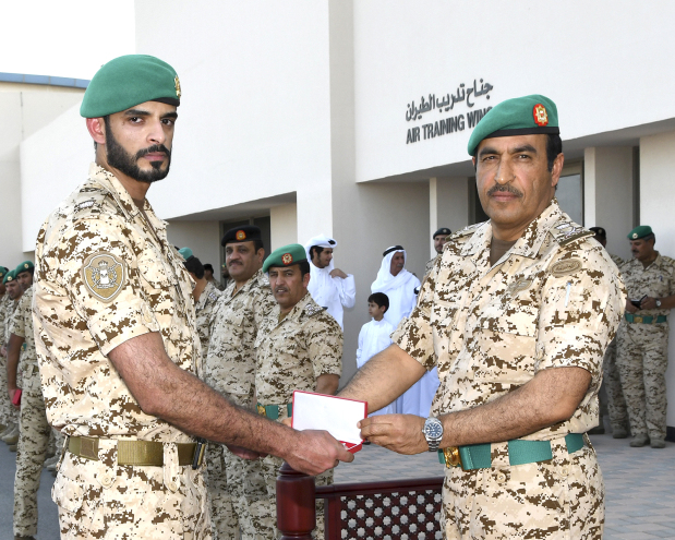 <p>A BDF contingent taking part in the Saudi-led Arab Coalition's Operation Restoring Hope was honoured during a ceremony held at the Isa Airbase under the patronage of Royal Guard Commander Major General Shaikh Nasser bin Hamad Al Khalifa.&nbsp;</p><div>He deputised Royal Guard Deputy Commander Maj Gen Hamad Khalifa Al Nuaimi to honour the taskforce.</div><div><br></div><div>He presented the medals, bestowed by His Majesty King Hamad, the Supreme Commander, on BDF officers, non-commissioned officers and the taskforce servicemen in recognition of their patriotism, professionalism and discipline.</div><div><br></div><div>Senior BDF officers and families of the servicemen were present.</div>