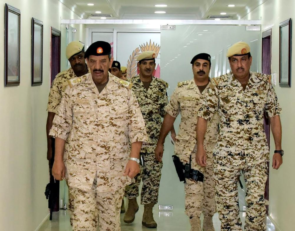 <p>BDF Commander-in-Chief Marshal Shaikh Khalifa bin Ahmed Al Khalifa yesterday inspected several BDF units and reviewed their administrative and combat readiness.&nbsp;</p>