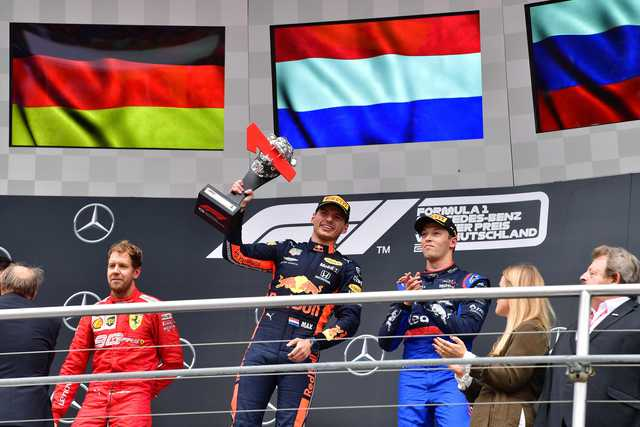 Red Bull's Max Verstappen wins chaotic German Grand Prix