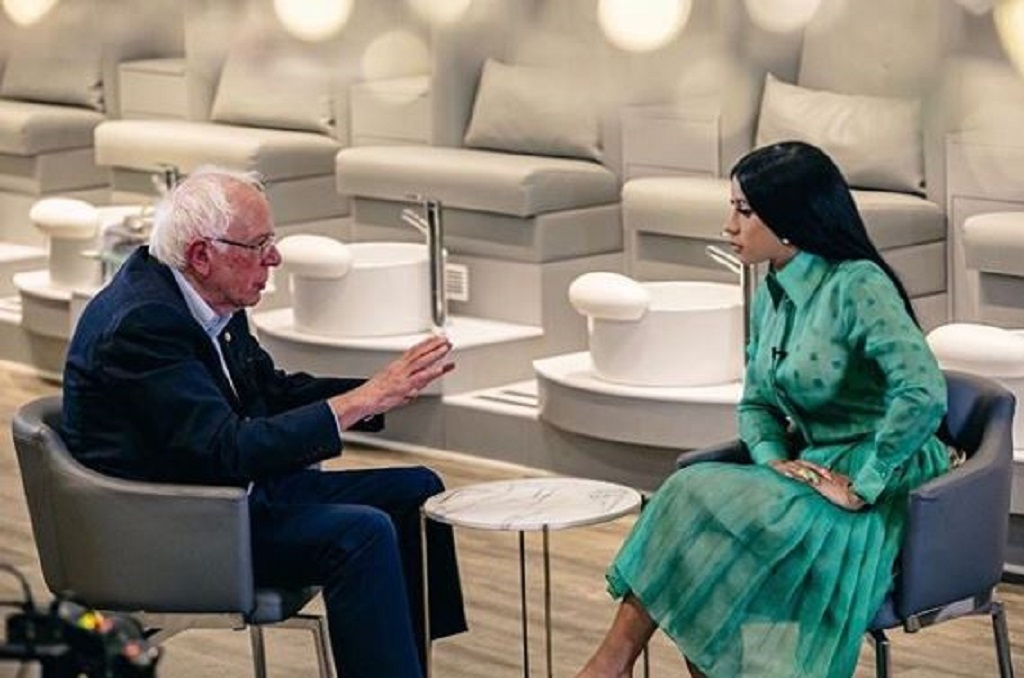 Bernie Sanders teams with Cardi B to push US youth vote