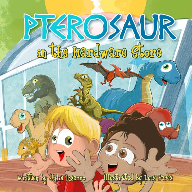 An adventure with dinosaurs for young