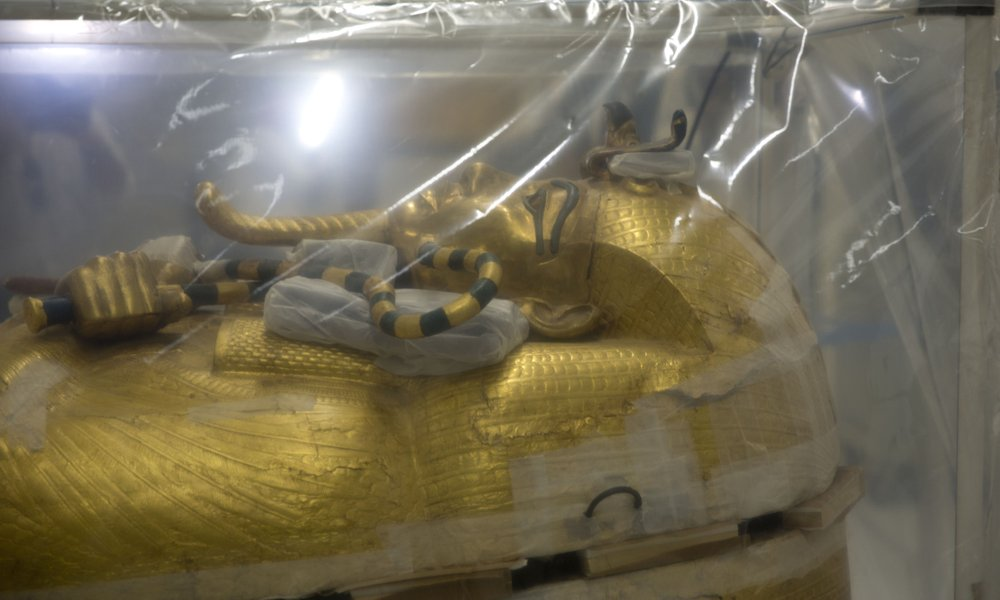 Restoration begins on King Tut's golden coffin