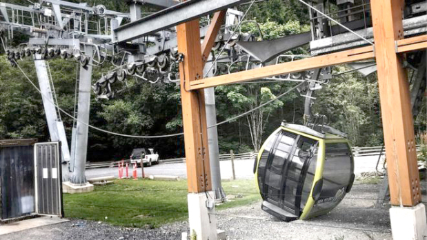 Cable car crashes after vandal attack
