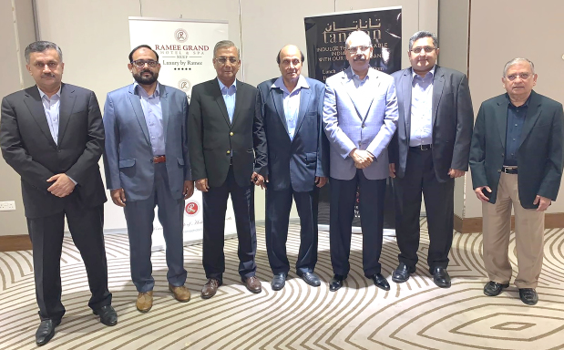 Al Saqafa, the Pakistan Association, held its annual general meeting and board elections at Ramee International Hotel in Manama. General secretary Imtiaz Ahmed Syed conducted the meeting and last year's financial report was presented to members and approved. The association is known for organising social and cultural events in Bahrain since 1993. Above, the board members for the year 2019-2021.