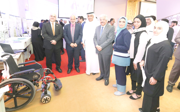 <p>Three students from the Electrical and Electronics Engineering Department at Bahrain University have developed a &lsquo;self-balancing electric scooter&rsquo; that allows people with disabilities to move independently.&nbsp;</p> <div>The smart wheelchair was presented at a graduation projects exhibition held at the College of Engineering.</div> <div></div> <div>It can detect distances and is equipped with sensors and a gyroscope to help users measure or maintain orientation and angular velocity.</div>