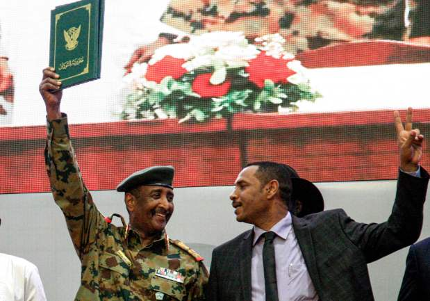 Sudanese celebrate transition to civilian rule