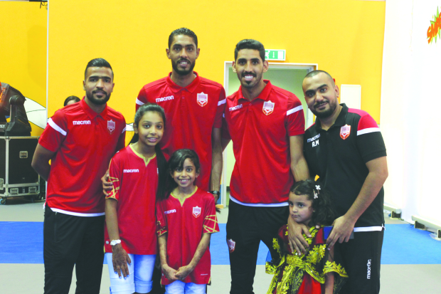 <p><em>Children join the celebrations. Pictures by AHMED AL FARDAN</em></p> <p>The Youth and Sports Affairs Ministry yesterday held a National Day of Joy festival marking thenational football team&rsquo;s winning of the West Asian Football Federation (WAFF) Championship 2019.</p> <p>Celebrations took place at the sports halls near Bahrain National Stadium with the participation of members of the national team.</p> <p>Youth and Sports Affairs Minister Tawkiq Al Moayyed took part in the festivities. The event featured various programmes including competitions, children&rsquo;s games, recreational activities and prize distribution to winners.</p> <p><em><br /></em></p>