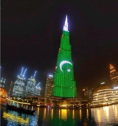 Orientation of Pakistani flag on Burj Khalifa angers expats