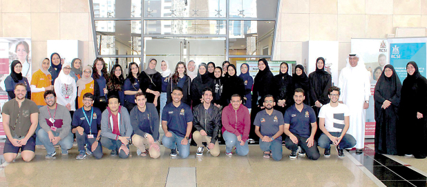 <p><em>Students and officials after completing the course</em></p> <p>More than 30 medical students took part in a sign language course conducted by the Bahrain Deaf Society.&nbsp;</p> <div>It was organised by the community engagement department of the Royal College of Surgeons in Ireland &ndash; Medical University of Bahrain.</div> <div></div> <div>Nursing and medicine students were taught basic sign language skills to help them communicate with patients having learning difficulties.&nbsp;</div> <div></div> <div>The course was conducted by society instructors Madhi Alnoaimi, Huda Al Mutawa, and Zainab Al Aswad.</div> <p><em><br /></em></p>