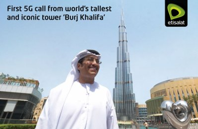 Etisalat dials in 5G call from world's tallest tower