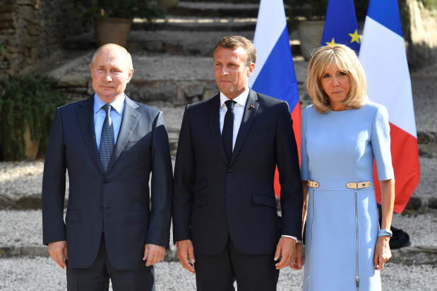 Macron urges Putin to respect free speech, democracy at pre-G7 talks