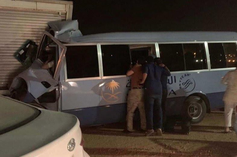 Saudi Airlines air hostess killed in accident; 11 others injured