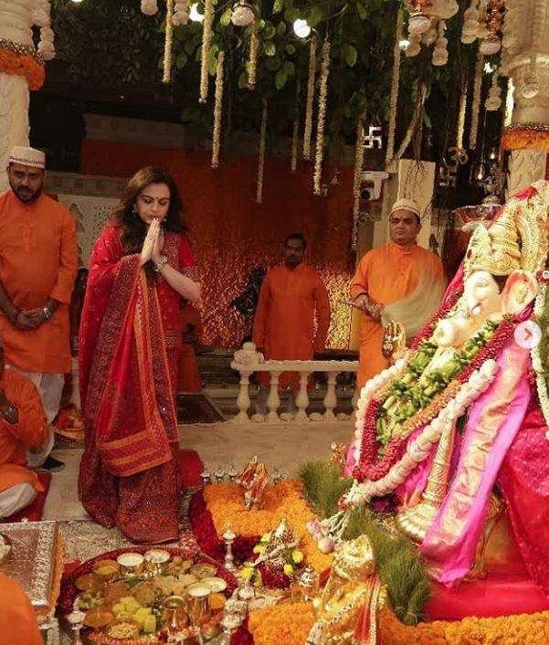 Photos: Bollywood celebrities and cricket stars add glamour to Ambanis' Ganesh Chaturthi celebration