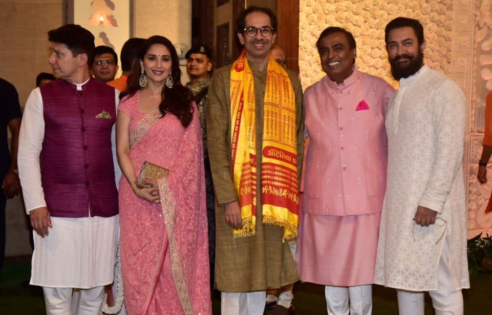 Bollywood: Photos: Bollywood celebrities and cricket stars add glamour to Ambanis' Ganesh Chaturthi celebration