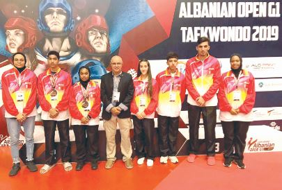 <p>Bahrain finished third in the Albanian International Taekwondo Championship (G1 Class) in Tirana. Moadh<br />Ibrahim and team-mate Farah Ibrahim clinched two bronze medals for Bahrain after finishing third in the 53<br />and 55-kg weight classes respectively.</p>