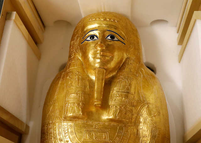 After New York visit, looted coffin of ancient Egyptian priest goes home