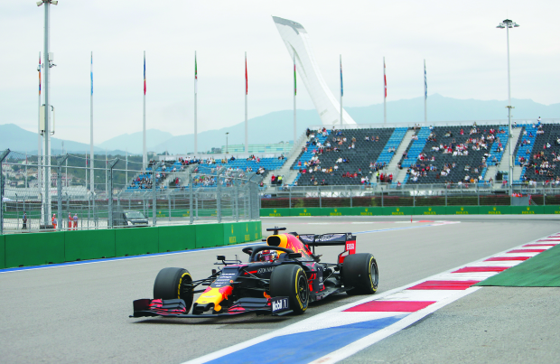 Verstappen sets pace in Sochi