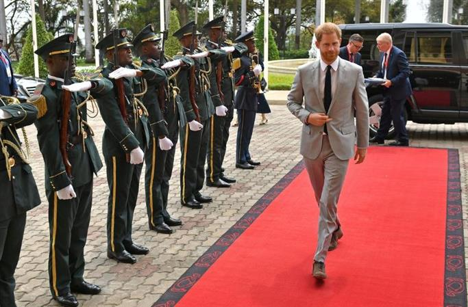 Britain's Prince Harry to touch down in Malawi