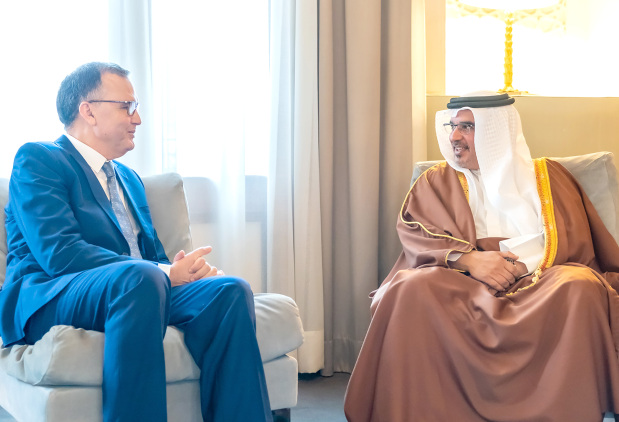 <p>His Royal Highness Prince Salman bin Hamad Al Khalifa, Crown Prince, Deputy Supreme Commander and First Deputy Prime Minister, yesterday met newly-appointed Moroccan Ambassador Mustapha Benkhayi and Sri Lankan Ambassador Pradeepa Saram. The Crown Prince highlighted the importance of further strengthening relations and co-operation with Morocco and Sri Lanka across various sectors. He wished Mr Benkhayi and Ms Saram success in their new diplomatic role. They also discussed regional and international issues of common interest.</p>
