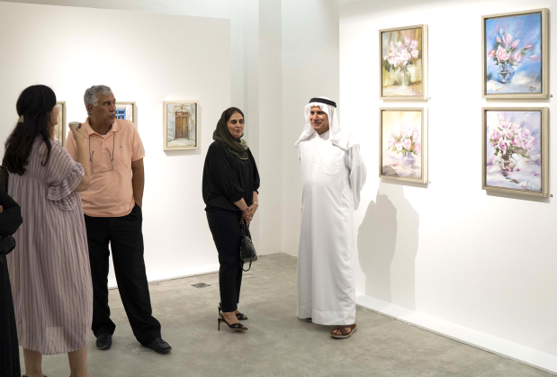 <p>Visitors to the exhibition.</p>