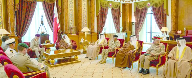 <p>His Royal Highness Prince Salman bin Hamad Al Khalifa, Crown Prince, Deputy Supreme Commander and First Deputy Premier, yesterday met UK Defence Senior Adviser to the Middle East Lieutenant General Sir John Lorimer at Gudaibiya Palace. He highlighted long-standing ties between Bahrain and the UK, noting the advanced level of co-operation in promoting regional security and stability. The meeting was attended by Finance and National Economy Minister Shaikh Salman bin Khalifa Al Khalifa and BDF Chief of Staff Lieutenant General Dheyab bin Saqer Al Noaimi.</p>