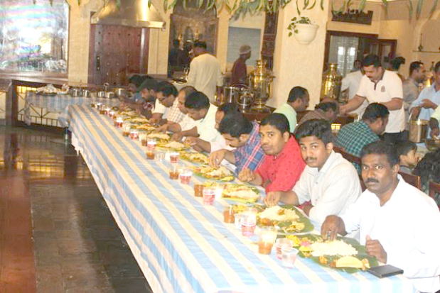<p><i>People enjoy the traditional feast.</i></p> <p>More than 700 people enjoyed a traditional Onam sadhya (feast) at Delmon International Hotel.&nbsp;</p> <div>The annual festival in Kerala, India, marks the end of monsoon and the arrival of the harvest season.&nbsp;</div> <div></div> <div>The event was organised by the hotel.&nbsp;</div>
