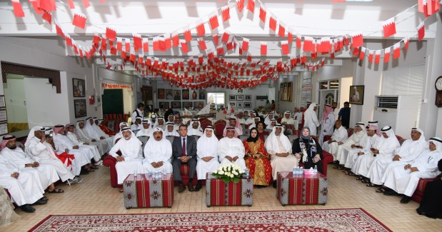 <p>Participants and officials at the celebration.</p>