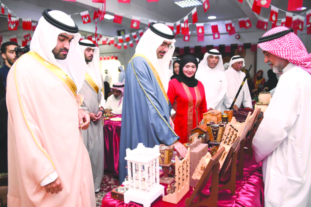 <p>Southern Governor Shaikh Khalifa bin Ali Al Khalifa yesterday visited Al Manar Elderly Daycare Home as part of activities marking International Day of Older Persons. Present were Labour and Social Development Ministy officials and students from Shaikha Hessa Girls School and Hawar International School. Shaikh Khalifa bin Ali also toured an exhibition featuring handicraft products.</p>