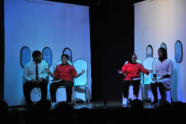 <p>Another group performing at the festival last night.</p>