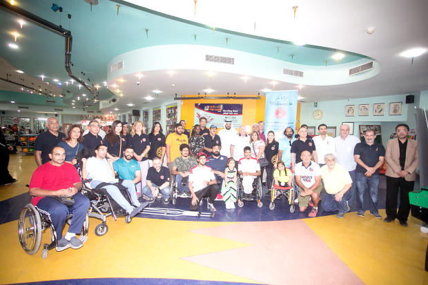 """<p>A fundraiser for children with special needs was held yesterday at the Funland Centre-Bowling and Ice Skating. """"Bowling Challenge for the Challenged"""", was organised by the Rotary Club of Salmaniya. It brought together 24 children from various societies including the Down Syndrome Care Centre, Al Sanabel Orphan Care Society and the Bahrain Paralympic Committee. Guest of honour was the Rotary District 2452 governor Shawkat Tadros from Jordan. Proceeds from the event will go towards the purchase of wheelchairs, school bags and other society requirements. Above, children and society members at the event.</p>"""