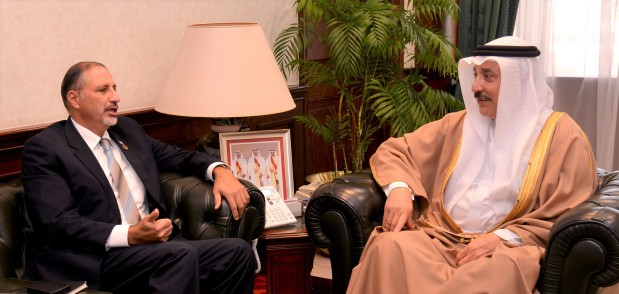 <p>Labour and Social Development Minister Jameel Humaidan yesterday received UN Resident Co-ordinator to Bahrain Amin Al Sharqawi. They discussed ways of boosting co-operation between the ministry and the UN to achieve sustainable development goals in the labour and development field.</p>