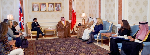 <p>During the meeting, the Minister of Foreign Affairs welcomed Mr. Chishti, expressing the Kingdom of Bahrain's pride in the close historical relations with the United Kingdom and its keenness to further develop these relations for the benefit of both countries. He also noted the UK's determined efforts in promoting tolerance and coexistence among different peoples, wishing Mr. Chishti further success.</p><p>For his part, Mr. Chishti expressed his pride in meeting the Minister of Foreign Affairs, stressing the UK's interest in enhancing bilateral cooperation with the Kingdom of Bahrain at all levels. He also hailed Bahrain's important initiatives in promoting coexistence between different cultures and religions, most importantly the establishment of the King Hamad Global Centre for Peaceful Coexistence, and other initiatives that reflects the Kingdom of Bahrain's contributions in consolidating pluralism, dialogue and coexistence for the benefit of all, wishing Bahrain further progress and prosperity.</p>
