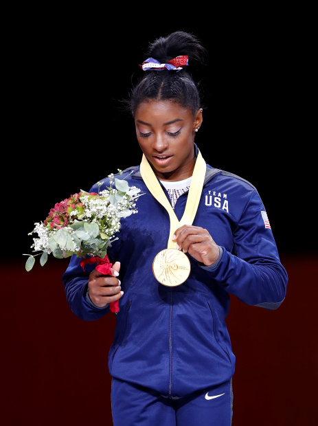 Biles claims record fifth all-around world title