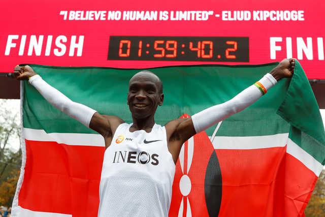 Astonishing Kipchoge smashes two-hour marathon barrier
