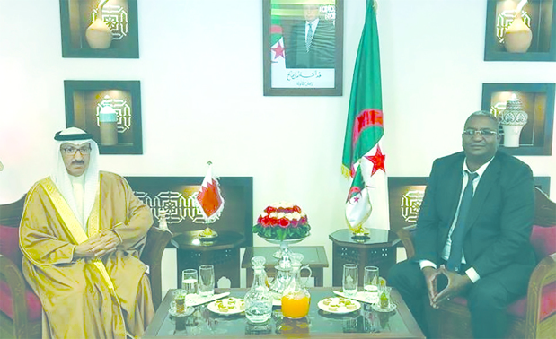<p>Algerian Minister of Tourism Abdelkader ben Massoud met Bahrain's Ambassador Fouad Al Baharna and stressed his country's keenness to promote co-operation, especially in the tourism sector. The Ambassador stressed the kingdom's interest in pushing for broader relations.</p>