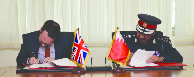 <p>Bahrain and the British Ministry of Transport have signed a memorandum of undertaking to enhance co-operation on the use of the latest equipment and technologies in aviation security, especially with the opening of Bahrain&rsquo;s new airport terminal.&nbsp;</p> <div>It was signed by Interior Ministry&rsquo;s Director General of Ports Security Brigadier Maher Bouali and British Transport Administration&rsquo;s Aviation Security Liaison Officer Matthew Parker.</div>