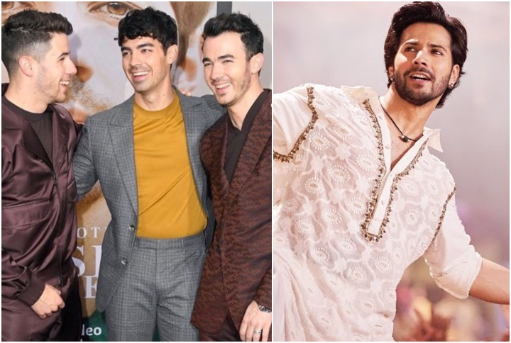 Nick Jonas grooves to Varun Dhawan's 'First Class' with his brothers