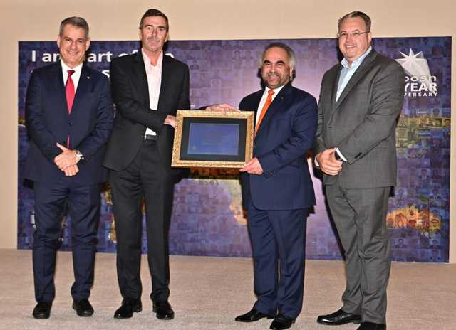 <p>GPIC president Dr Abdulrahman Jawahery has been awarded the British National Council for Occupational Health and Safety Examinations (Nebosh) International Diploma.</p> <p>It was presented by Nebosh chief executive Ian Taylor, who paid tribute to Dr Jawahery&rsquo;s contribution to the safety culture in the Middle East.</p> <p>Above, Dr Jawahery, third from left, receiving the diploma.</p>