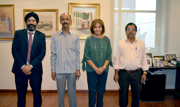 <p><em>From left, Mr Duggal, Mr Qureshi, Ms Almoayyed and Mr Bhaskaran.</em></p> <p>Two long-serving employees at the YK Almoayyed and Sons (YKA) were bid farewell.</p> <p>Kolladallil Bhaskaran who worked as a team leader for 37 years and Gulam Qureshi who worked as a denter for 17 years at the Nissan Body Shop were awarded a token of appreciation by YKA managing director Mona Almoayyed. Also present was YKA Group manager Sonu Duggal.&nbsp;</p>