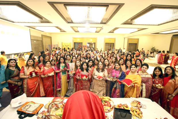 <p>Scores of women took part in an event to celebrate the Indian festival of Karva Chauth. The Punjabis United in Bahrain (PUB) organised the event at the Golden Tulip Bahrain. Karva Chauth is a centuries-old tradition observed annually in north India, where women dress up and fast for the day as they pray for their husband's health and success. Above, scores of women attended the event to celebrate Karva Chauth.</p>