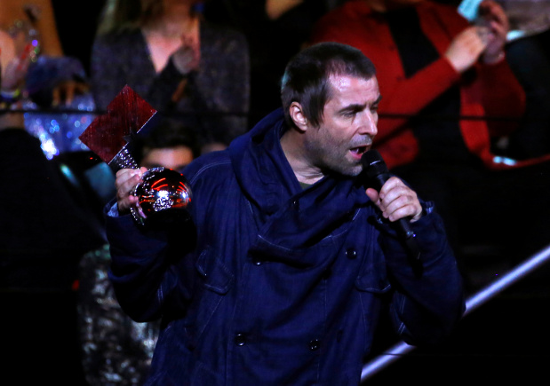 Liam Gallagher wins first ever MTV Rock Icon award at MTV Europe Music Awards