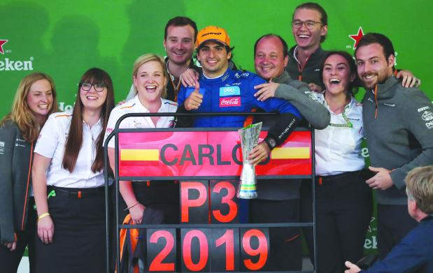 McLaren savour a podium finish