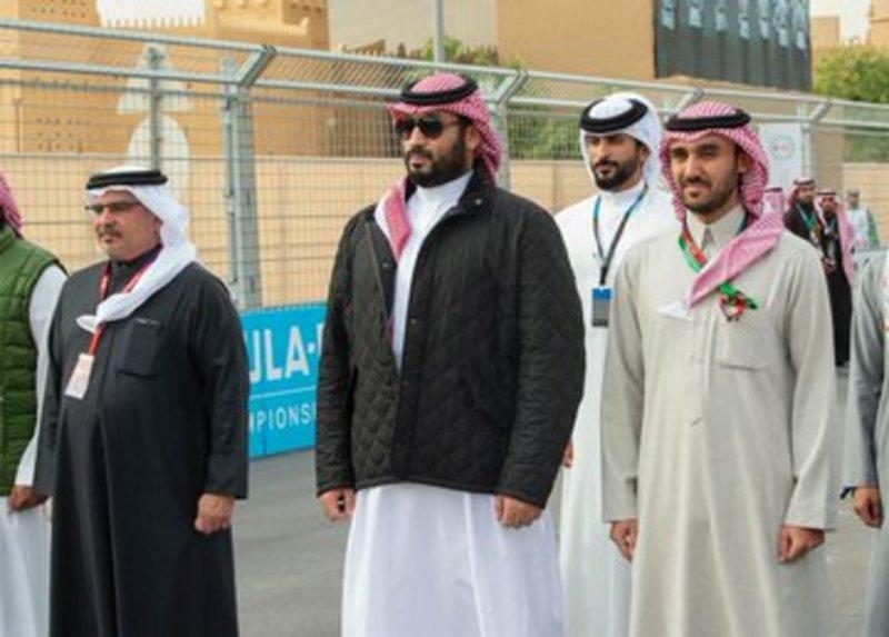 PHOTOS: Saudi and Bahraini Crown Princes attend 2nd Ad Diriyah ePrix