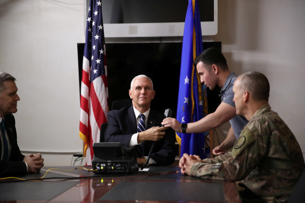 Pence visits US troops in Iraq, holds phone call with prime minister