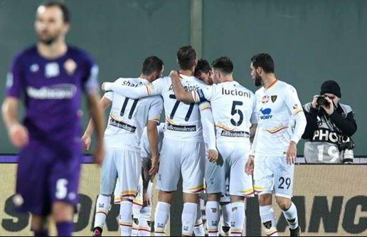 Lecce end winless run at struggling Fiorentina