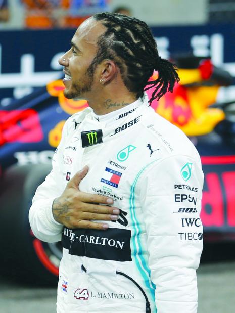 Hamilton storms to final pole spot